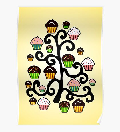 Cupcake Tree Poster
