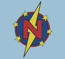 My Cute Little Super Hero - Letter N Kids Tee