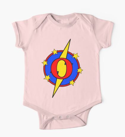 My Cute Little Super Hero - Letter O One Piece - Short Sleeve