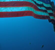 Old Glory on a Sunken Wreck Sticker