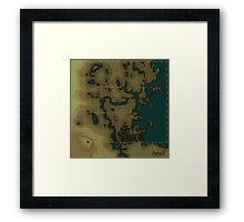 Fallout 4 Blank Map Framed Print