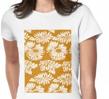Japanese Flowers Pattern Womens Fitted T-Shirt