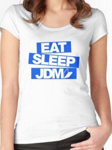 Eat Sleep JDM wakaba (3) Women's Fitted Scoop T-Shirt