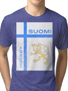 Finland Hockey Tri-blend T-Shirt