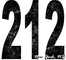 Distressed New York 212 Area Code by kwg2200
