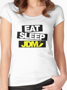 Eat Sleep JDM wakaba (4) Women's Fitted Scoop T-Shirt