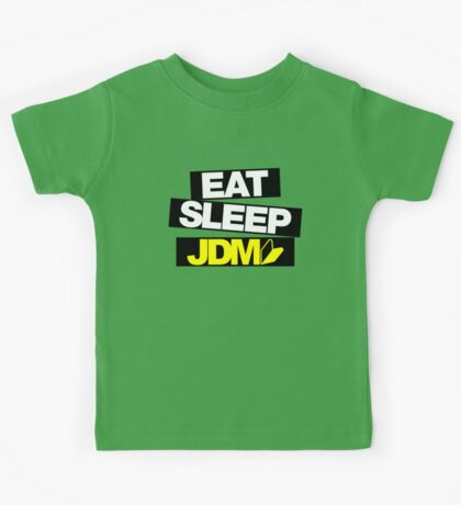 Eat Sleep JDM wakaba (4) Kids Tee