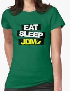 Eat Sleep JDM wakaba (4) Womens Fitted T-Shirt