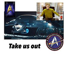 Star Trek: take us out Photographic Print