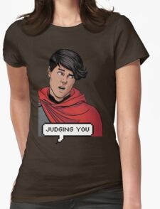 Wiccan is judging you Womens Fitted T-Shirt