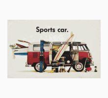 VW kombi sports car  One Piece - Short Sleeve