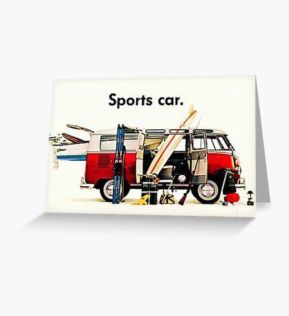 VW kombi sports car  Greeting Card