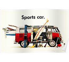 VW kombi sports car  Poster