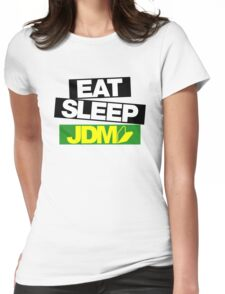 Eat Sleep JDM wakaba (5) Womens Fitted T-Shirt
