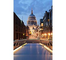 St Paul's and the Bridge Photographic Print