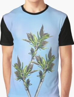 leaves - in real size has the appearance of stained glass Graphic T-Shirt