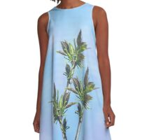leaves - in real size has the appearance of stained glass A-Line Dress