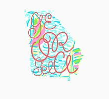 Georgia Silhouette&Lettering Lilly Pulitzer Print Unisex T-Shirt