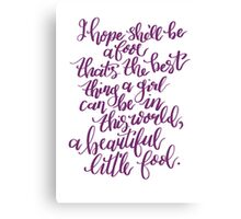 The Great Gatsby Quote Canvas Print