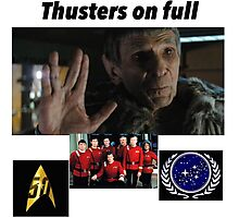 Star Trek: thrusters on full  Photographic Print
