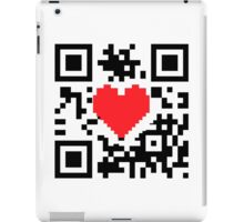 QR Code Heart Love Message  Prints / T-Shirt / iPhone Case / Pillow / Tote Bag /Duvet  / iPad Case / Mug iPad Case/Skin