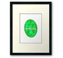 Game Of Thrones Dragon Eggs - Rhaegal Framed Print