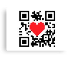 QR Code Heart Love Message  Prints / T-Shirt / iPhone Case / Pillow / Tote Bag /Duvet  / iPad Case / Mug Canvas Print
