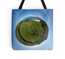 Kinnagoe Bay (as a floating green planet) Tote Bag