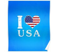 I LOVE USA (white) Poster