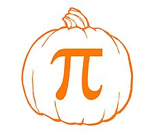 Pumpkin Pi (pie) Mathematics Humour Photographic Print