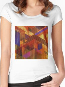 Wrightian Reflections (Square Version) - By John Robert Beck Women's Fitted Scoop T-Shirt