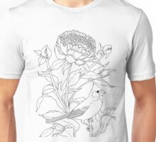 Small Bird or Big Flower?  Color Project.   Unisex T-Shirt
