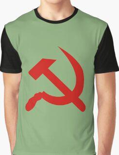 USSR - Soviet Russia - Hammer & Sickle Graphic T-Shirt
