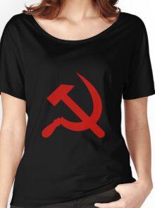 USSR - Soviet Russia - Hammer & Sickle Women's Relaxed Fit T-Shirt