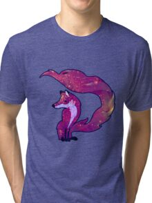 Galaxy Fox Tri-blend T-Shirt