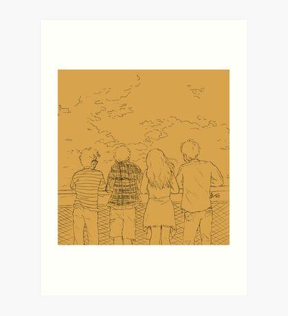 Squad Yellow Art Print