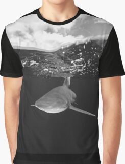 Shark Under The Clouds Graphic T-Shirt