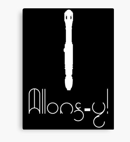 Allons-Y & Screwdriver - 10th Doctor Canvas Print