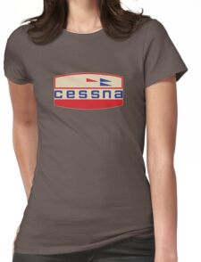 Cessna Vintage Aircraft USA Womens Fitted T-Shirt
