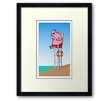 Pig On Duty Framed Print