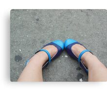 Precious Blue Shoes Canvas Print