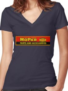 Vintage Mopar Women's Fitted V-Neck T-Shirt