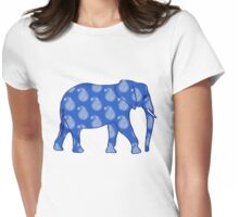 Paisley Elephant - Cobalt Blue Womens Fitted T-Shirt