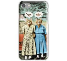 Two Cool Kitties: What's for Lunch? iPhone Case/Skin