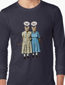 Two Cool Kitties: What's for Lunch? Long Sleeve T-Shirt