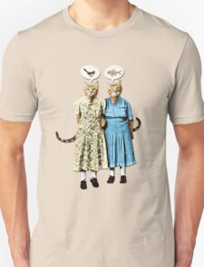 Two Cool Kitties: What's for Lunch? Unisex T-Shirt