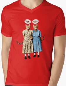 Two Cool Kitties: What's for Lunch? Mens V-Neck T-Shirt