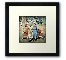 Two Cool Kitties: What's for Lunch? Framed Print