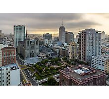 San Francisco at Dusk from Nob Hill Photographic Print