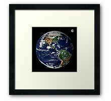 astronomy universe Hip Eco friendly Planet Earth Framed Print